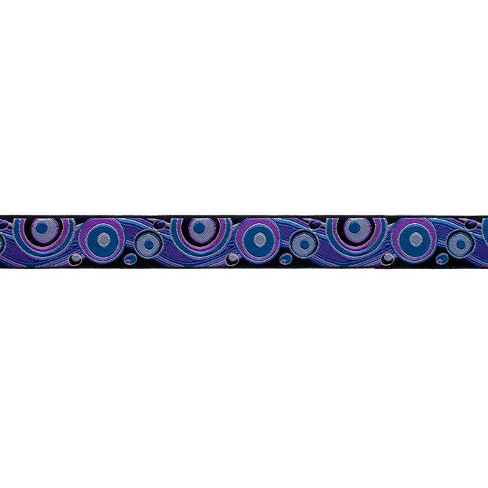 7/8'' Ribbon Circles & Waves Blue/Lavender