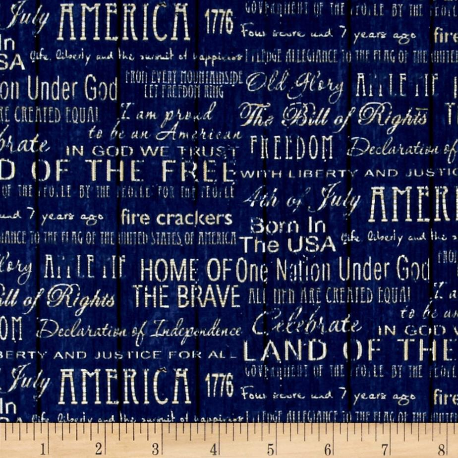 American Pride Proud To Be American Words Blue