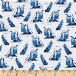 Sail Away Sailboats Gray
