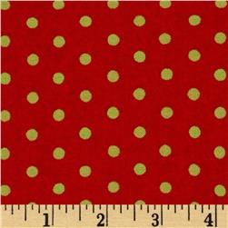 Moda Be Jolly Jolly Polka Dots Berrry Red