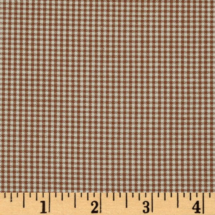 Kaufman 1/16'' Carolina Gingham Chocolate