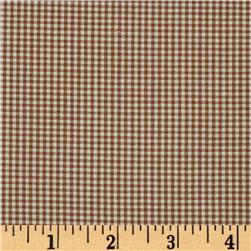 Woven 1/16'' Carolina Gingham Chocolate