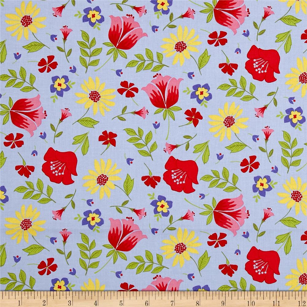 Penny Rose Meadow Sweets Main Blue