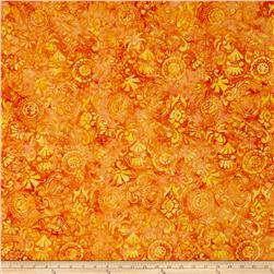 Timeless Treasures Tonga Batiks Petals Applique Saffron