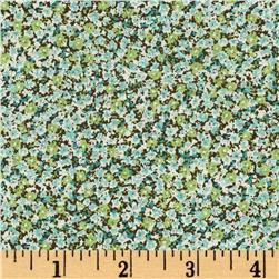 Kaufman Sevenberry Bouquet Small Flower Green