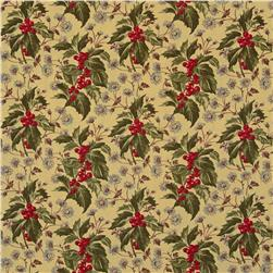 Moda Wintergreen Holly Oatmeal