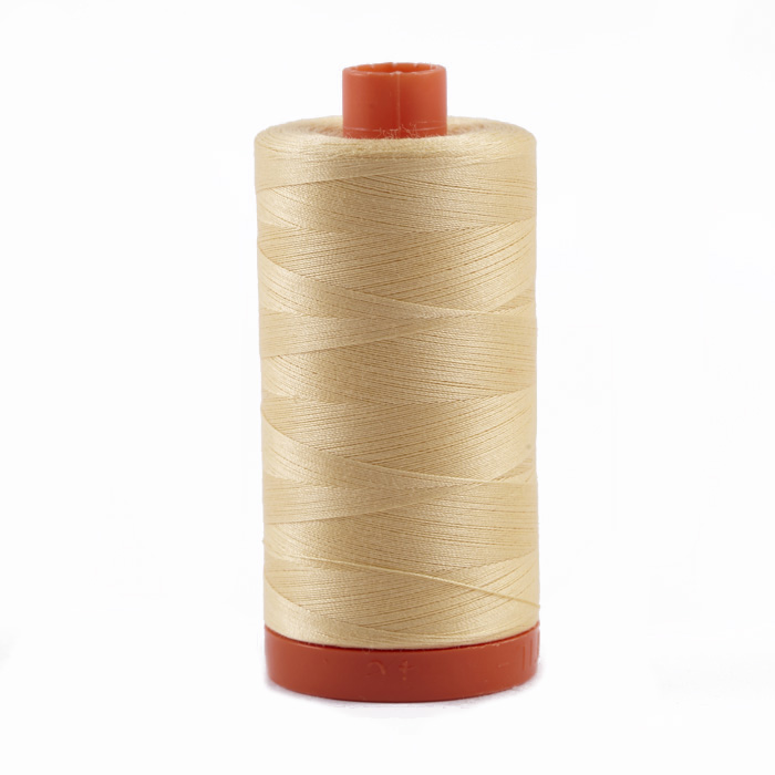 Aurifil Quilting Thread 50wt Medium Butter
