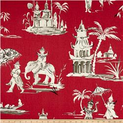 Home Accent Pagoda Road Toile Azalea