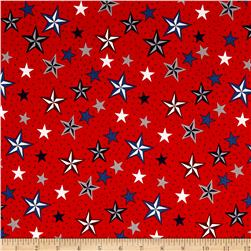 Riley Blake Lost & Found America Stars Red