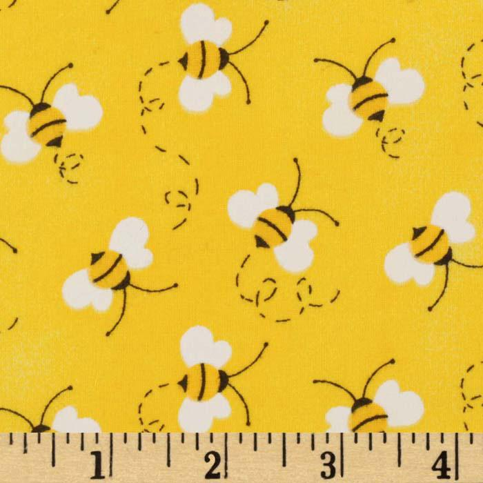 Charms Bees Yellow Discount Designer Fabric Fabric Amazing Bee Pattern