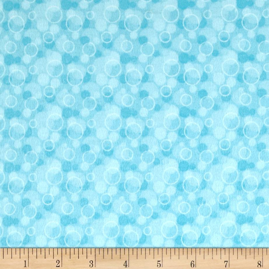 Flannel Tossed Bubbles Aqua