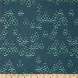 Cotton + Steel Raindrop Geo Drops Teal