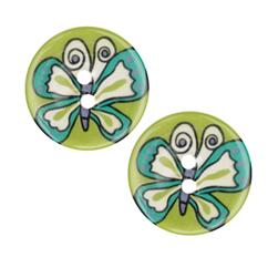 Novelty Button 1'' Butterfly