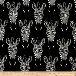 Zahara Zebra Face Black Fabric
