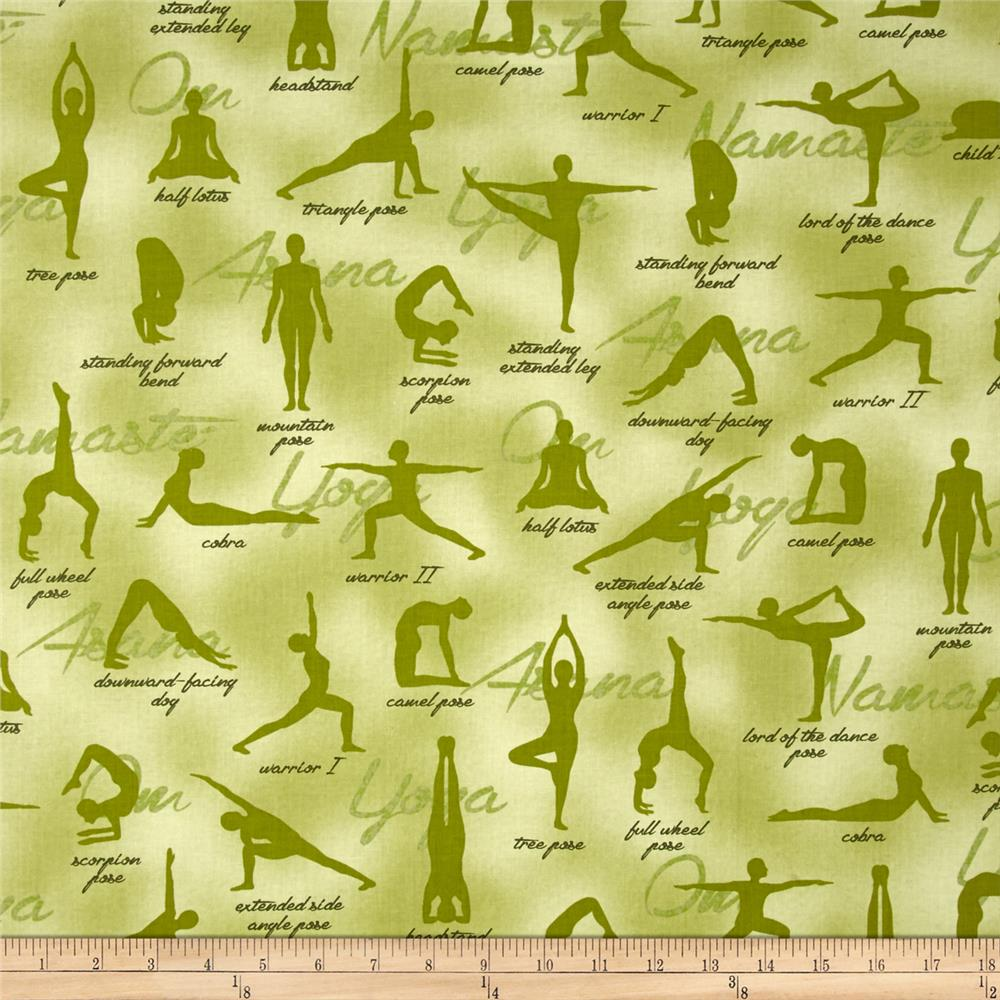 Kaufman Sports Life Yoga Positions Green
