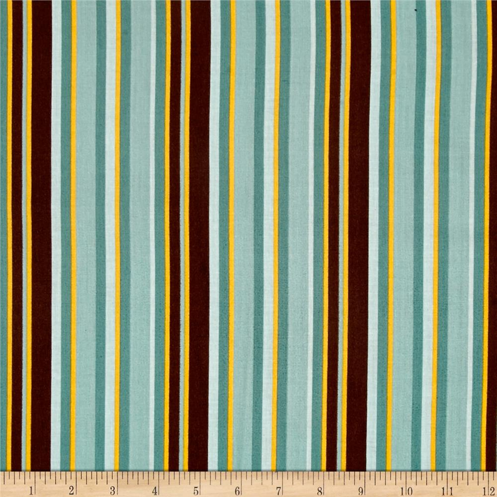 Riley Blake Giraffe Crossing 2 Stripe Teal