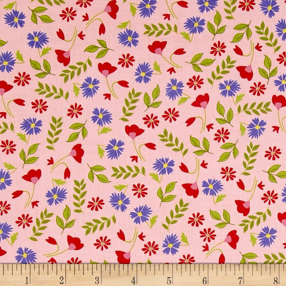 Penny Rose Meadow Sweets Floral Pink Fabric