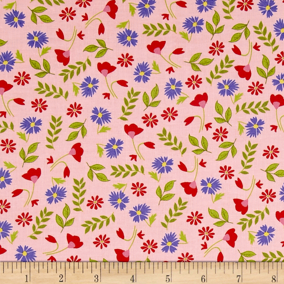 Penny Rose Meadow Sweets Floral Pink Fabric by Christensen in USA