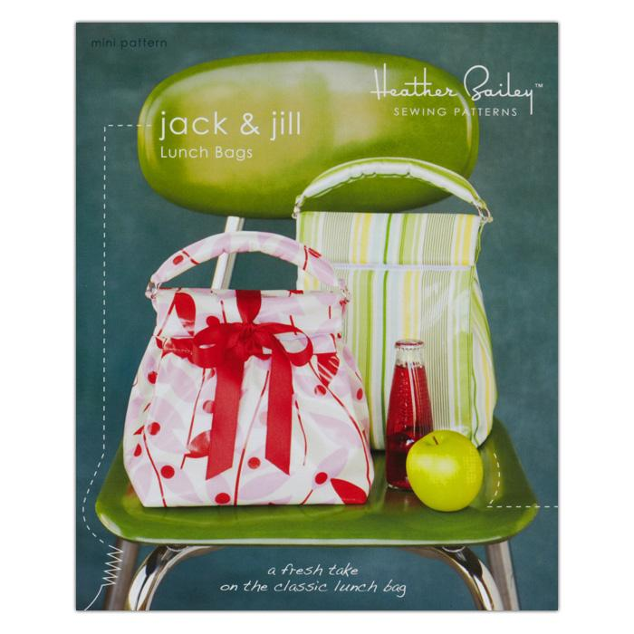 Heather Bailey Jack & Jill Lunch Bags Pattern