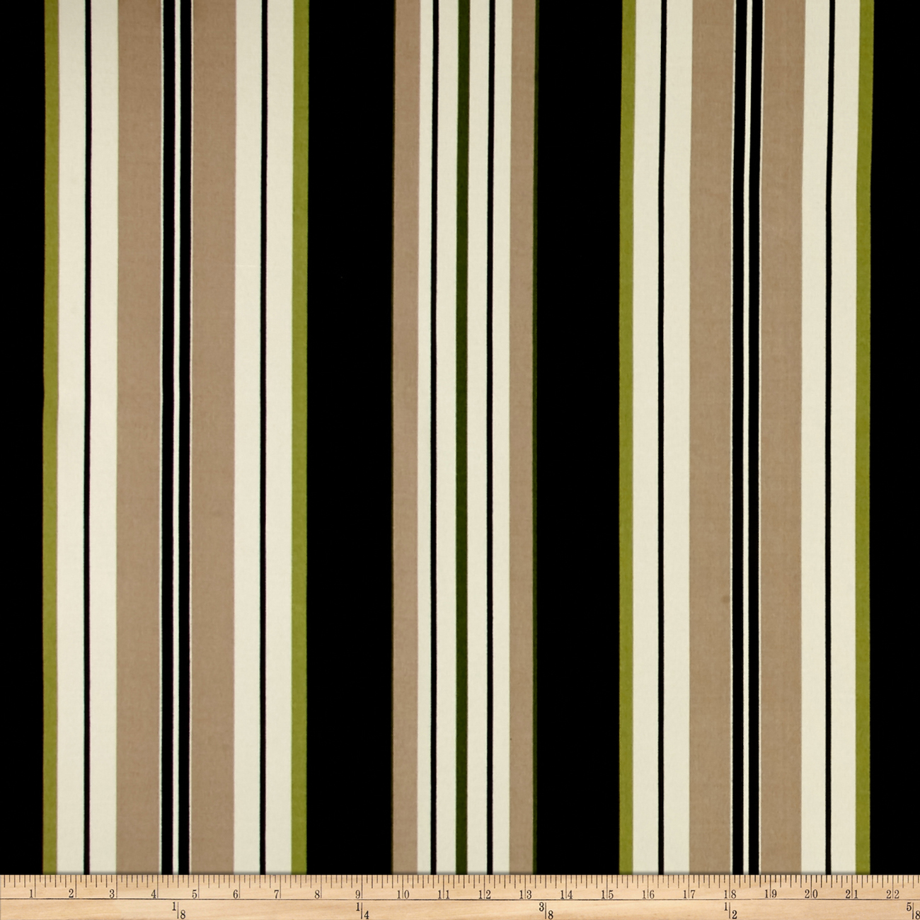 Bryant Indoor/Outdoor Lancaster Stripe Jet Black Fabric by Bryant in USA
