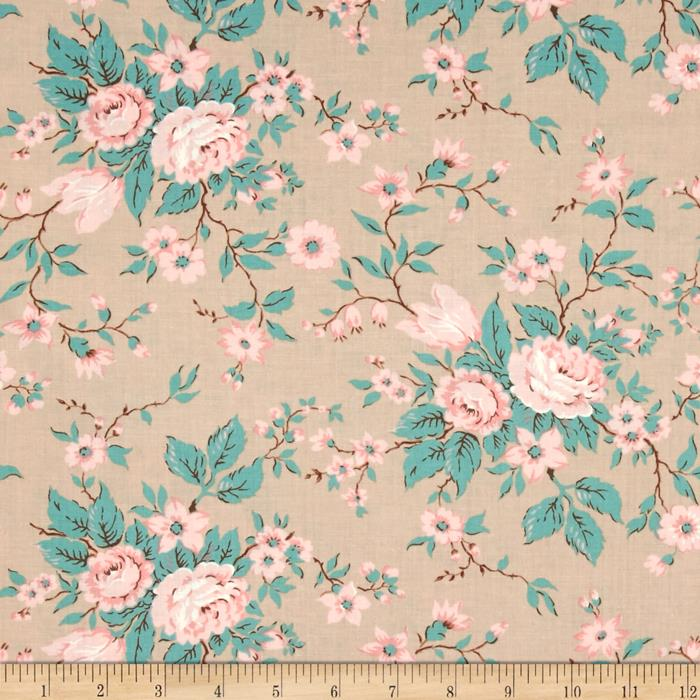 Moda Kindred Spirits Antique Floral Taupe