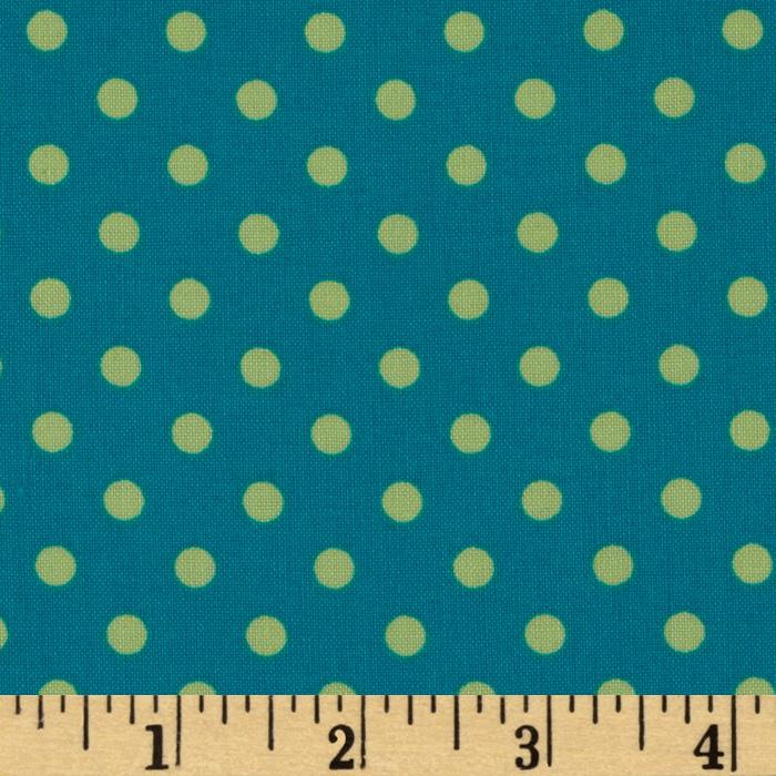 Michael Miller Dumb Dot Lagoon Teal