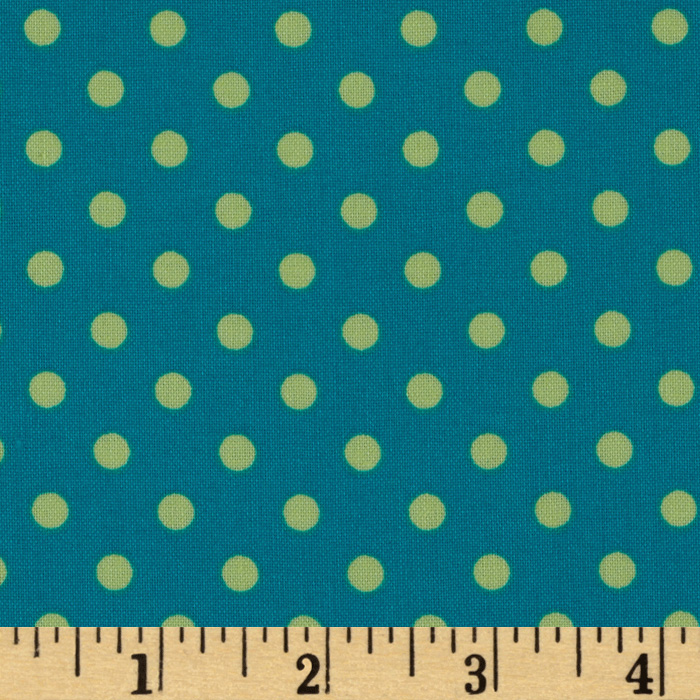 Michael Miller Dumb Dot Lagoon Teal Fabric