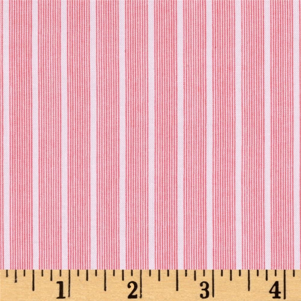 Windham Modern Country Fine Line Stripe  Raspberry