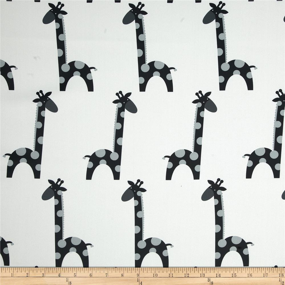 RCA Giraffe Blackout Drapery Fabric Black