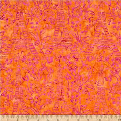 Michael Miller Batiks Passion Eifel Tower Sorbet Orange