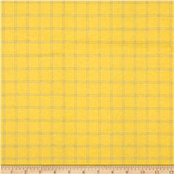 Aunt Polly's Flannel Large Plaid Yellow/Blue