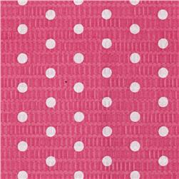 Tutti Frutti Plisse Polka Dot Hot Pink Fabric