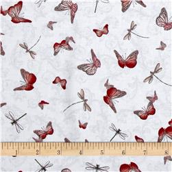 La Vie En Rose Butterflies & Dragonflies Gray