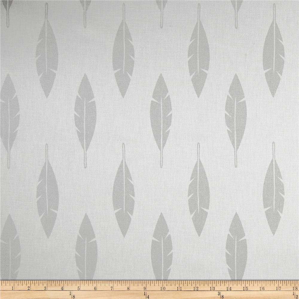 Premier Prints Feather Silhouette Luna Silver