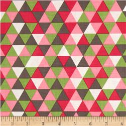 Riley Blake The Cottage Garden Triangles Pink