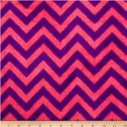 Plush Coral Fleece Chevron Fuschia/Amethyst