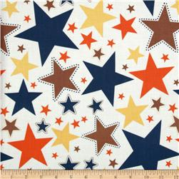 Riley Blake Super Star Large Star White