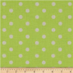 Baby Talk Aspirin Dot Green/White Fabric