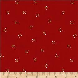 Reindeer Magic Grass Sprigs Red