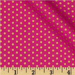 Kaufman Spot On Metallic Pindot Azalea Fabric