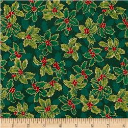 Lecien Winter Gift Elegant Holly Green