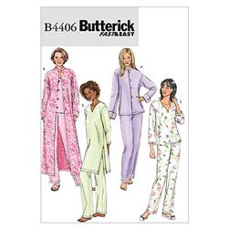 Butterick Misses'/Misses' Petite Jacket, Robe, Top, Tunic and Pants Pattern B4406 Size 0Y0
