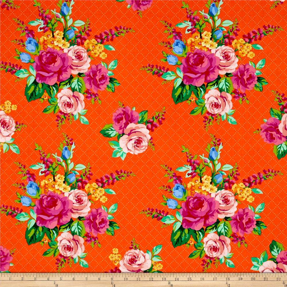 Mostly Manor Lg Floral Orange