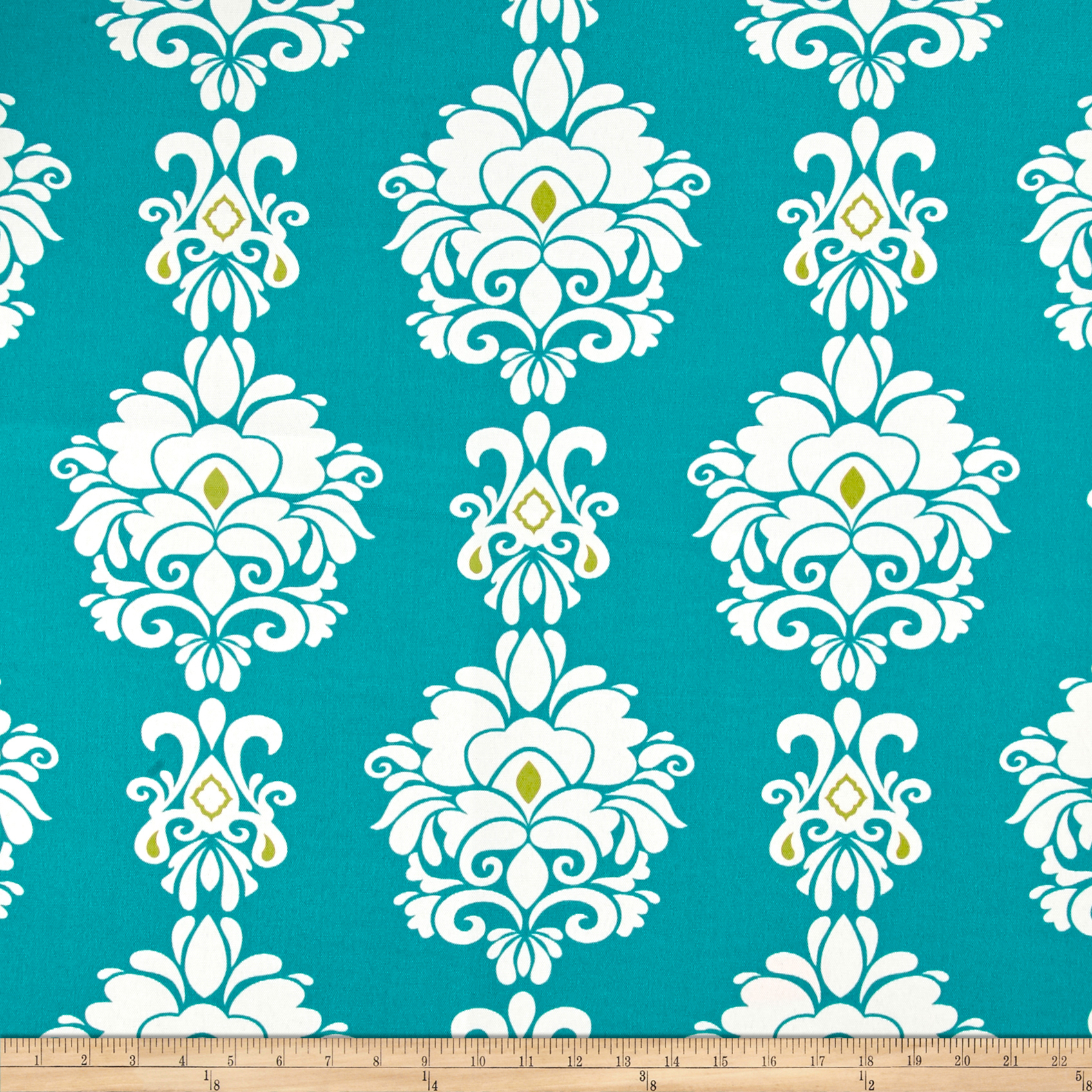 Terrasol Outdoor Divine Damask Peacock Fabric by Tempro in USA