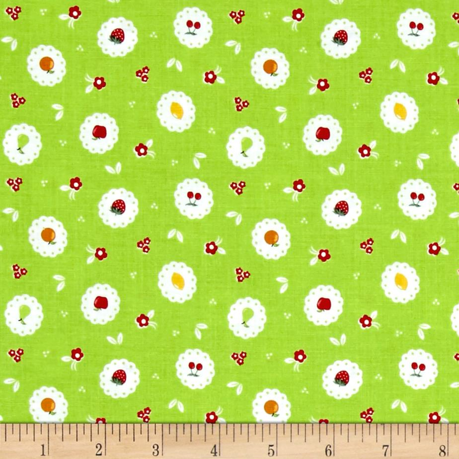 Riley Blake Sweet Orchard Scallop Green