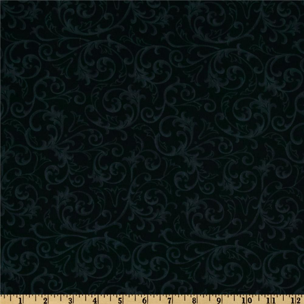 Baroque 108 quilt backing flourish black discount for Black fabric