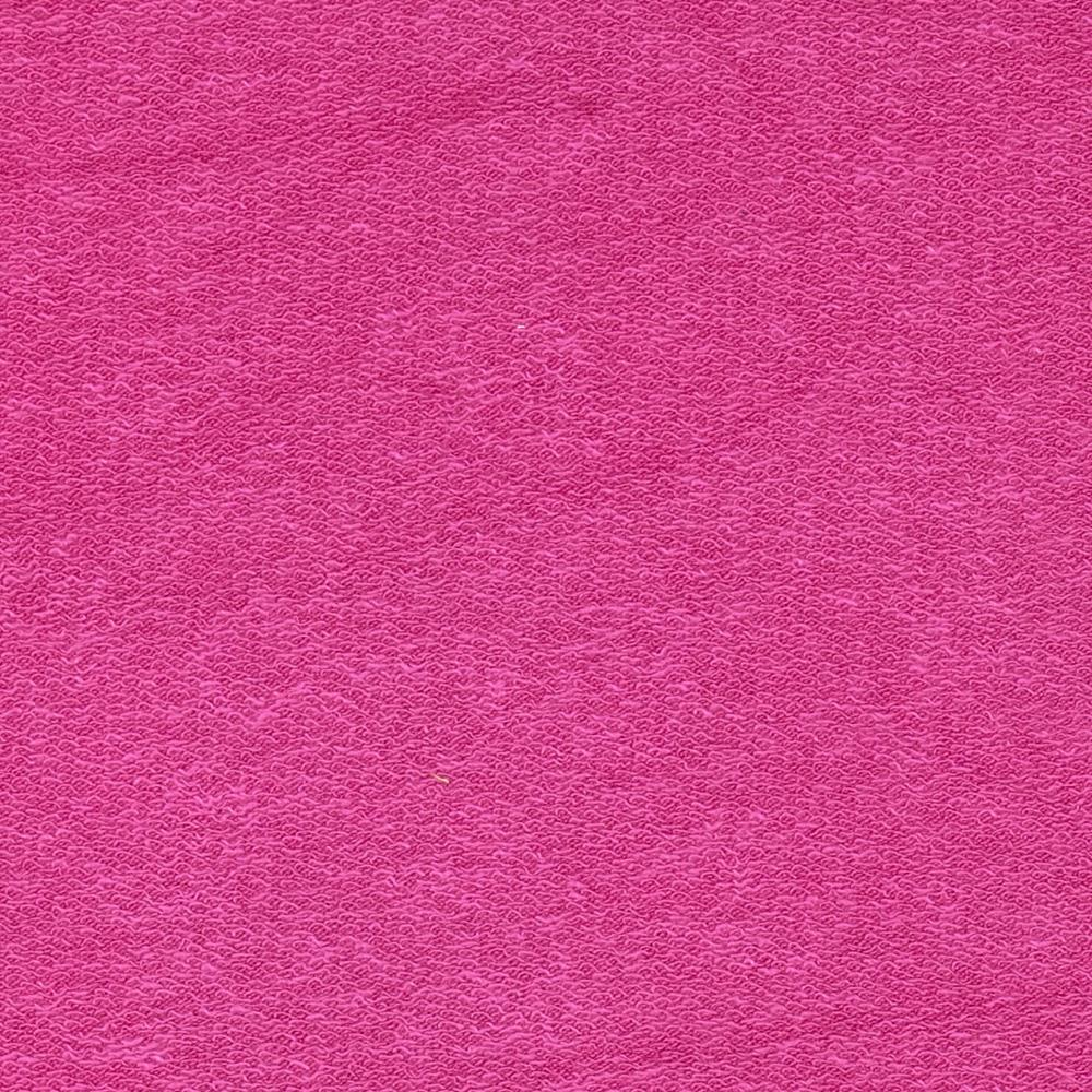 Stretch Rayon French Terry Knit Fuchsia