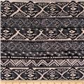 Ponte de Roma Geometric Tribal Stripe Black/Ivory
