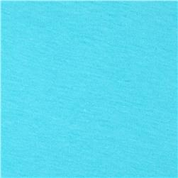 Cotton Jersey Knit Aqua
