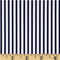 Kaufman Sevenberry Petite Basics Mini Stripe Navy